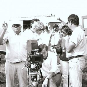 Pendant_le_tournage_de_''Les_poneys_sauvages''_1982